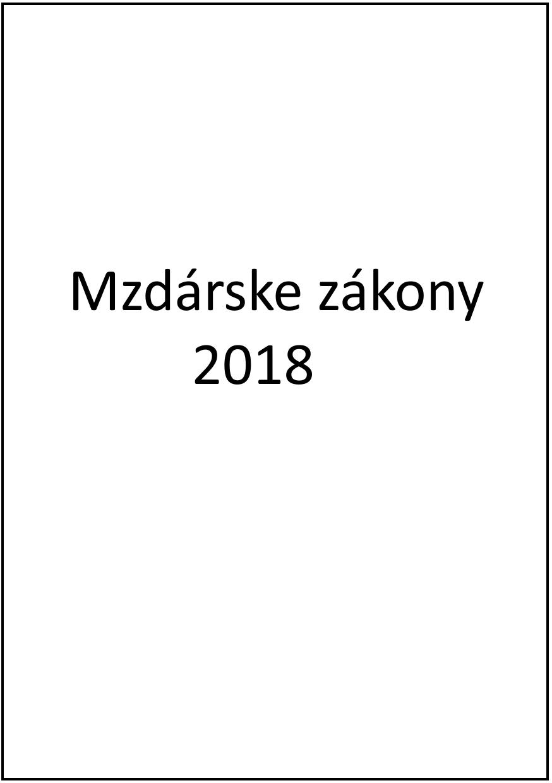 Mzdárske zákony 2018