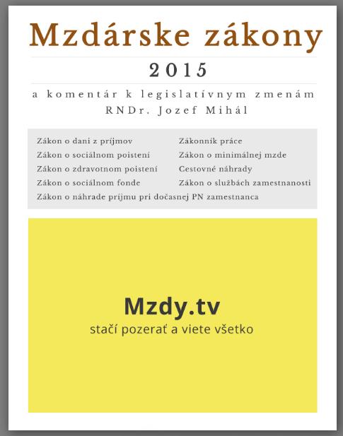 Mzdárske zákony 2015
